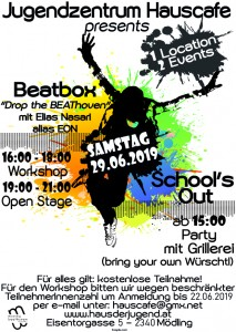 Schools Out Party feat. Beatbox Workshop & Open Stage